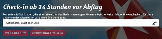 Airmalta Online check in