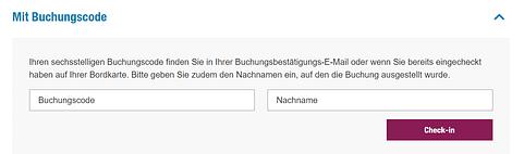 Eurowings Online Check-In