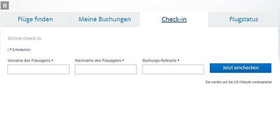 American Airlines online einchecken